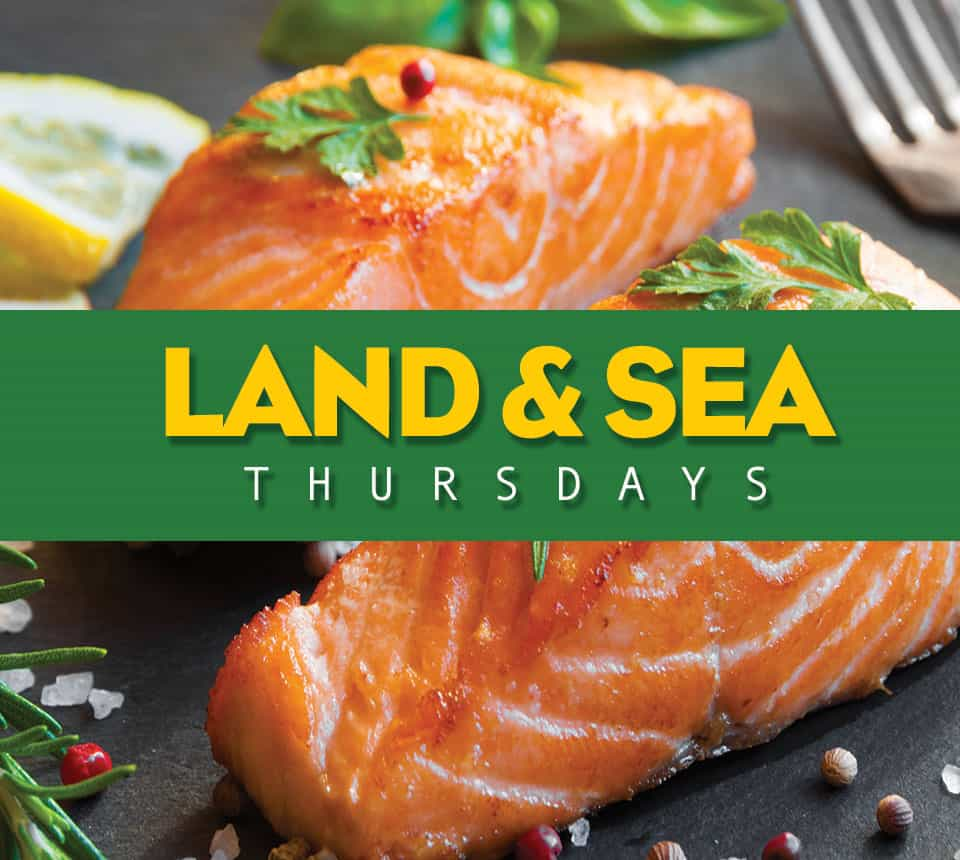 $12 Lunch  |    Thursday    |  $17 Dinner